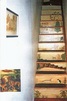 Custom Stair Riser Murals